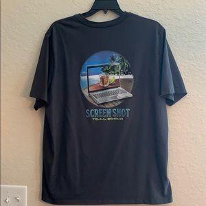 Tommy Bahama Screen Shirt Grey T Shirt